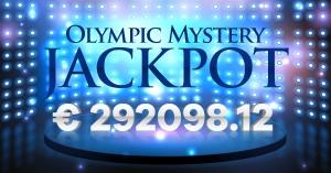 Olympic Casino laimēts džekpots 292 tūkstošu eiro apmērā