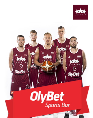 OlyBet Sports Bar becomes general sponsor of Latvian Men's national basketball team
