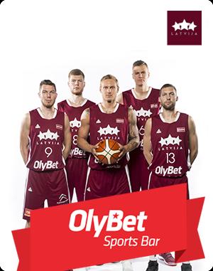 OlyBet Sports Bar становится генеральным спонсором мужской сборной Латвии по баскетболу.